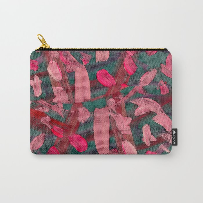Vivacity in Pink Carry-All Pouch