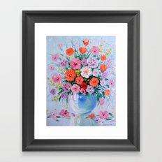 Bouquet of meadow flowers Framed Art Print