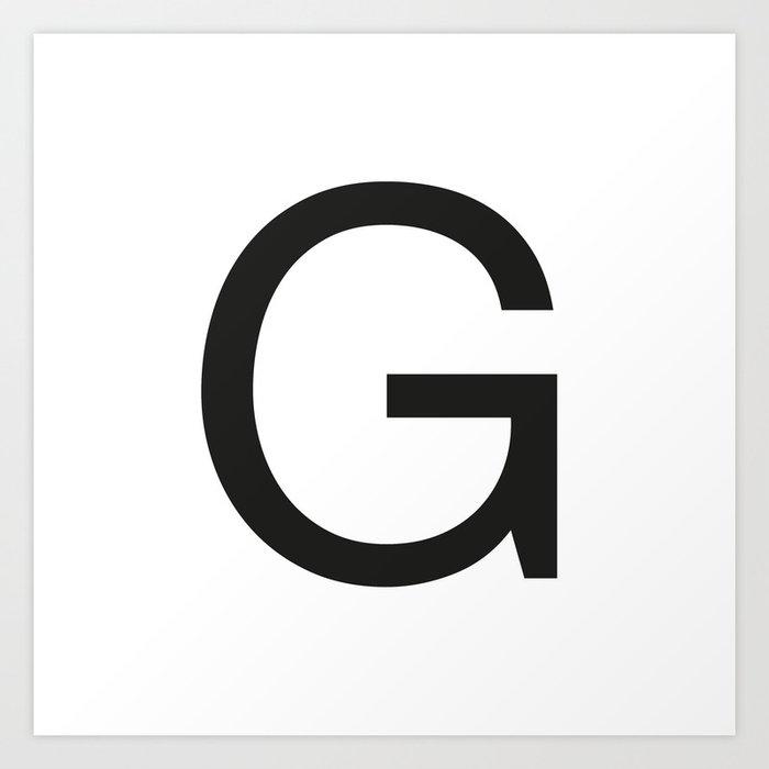 Letter Art Print.Letter G Art Print By Socialcreativity