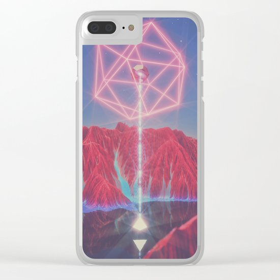 Teleportation Clear iPhone Case