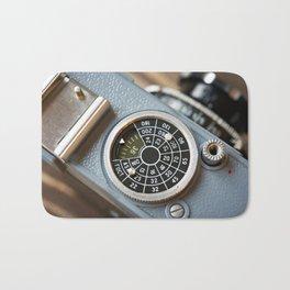 Wheel to set control sensitivity retro camera Bath Mat