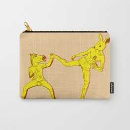 Horse-Dude versus Kick-Bunny Carry-All Pouch