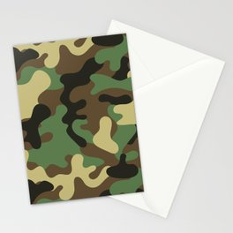 Classic Camouflage Pattern Stationery Cards