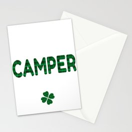 Luckiest Camper Ever St. Patricks Day Lucky Irish Stationery Cards