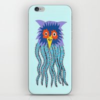 cthulu iPhone & iPod Skins featuring the owl of cthulu by ronnie mcneil