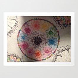 Cirle around the flowers... Art Print