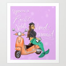 Leslie Knope Compliments: Land Mermaid Art Print