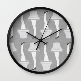 Leg Lamp Grey Wall Clock