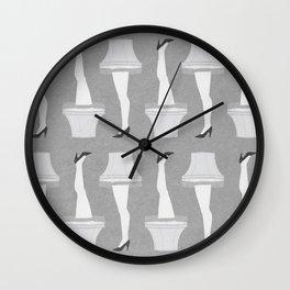 Leg Lamp Grey Wall Clock
