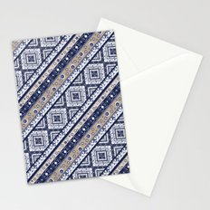 Abstract ornament. Rustic . Stripe. Stationery Cards