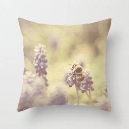 busy buzzy bumble bee ... Throw Pillow