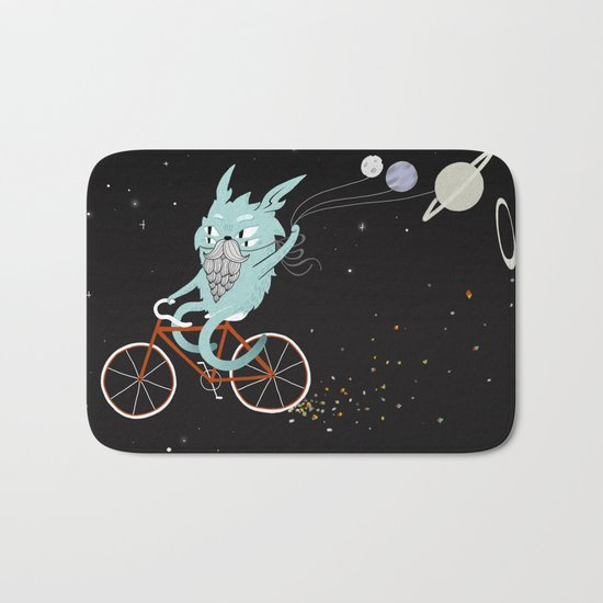 Bunny in Space Bath Mat