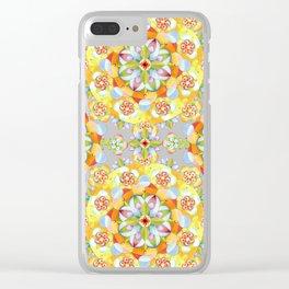 Flower Garden Mandala Clear iPhone Case