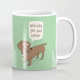Immature Dachshund Coffee Mug