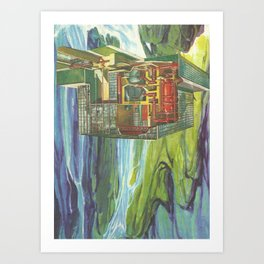 Cut with the kitchen knife Art Print