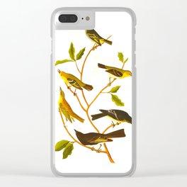 Little Tyrant Flycatcher, Small-headed Flycatcher, Blue Mountain Warbler, Bartram's Vireo, Short-leg Clear iPhone Case