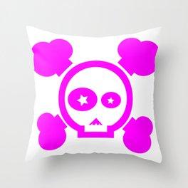 Skull Pop! Throw Pillow