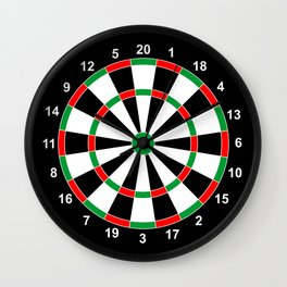darts game board classic target  Wall Clock