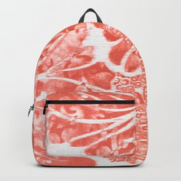 Winter Aloha in Coral Backpack