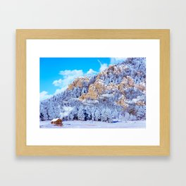 Winter Morning In The Mountains - Colorado Framed Art Print