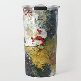 Oil Paint Texture Travel Mug