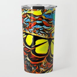 Butterfly, colorful butterfly, watercolor, color splash butterfly Travel Mug