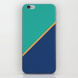 Mint & Dark Blue - oblique iPhone Skin