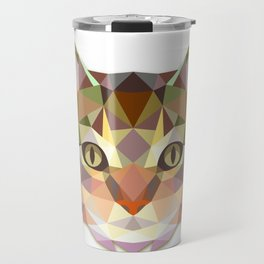 Geometric Cat Face Travel Mug