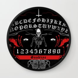 OUIJA Board Skull Wall Clock