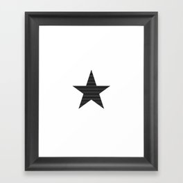Simple Star Framed Art Print