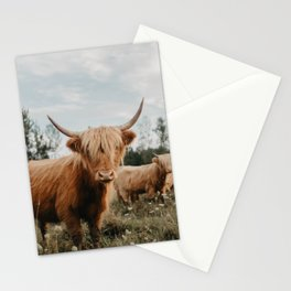 Highland Cow In The Country Stationery Cards