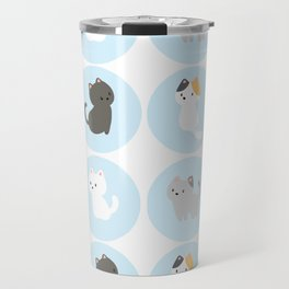Cute Blue Kitties Travel Mug