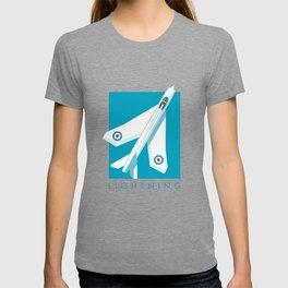 Lightning Jet Fighter - Cyan T-shirt