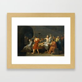 The Death of Socrates, 1787 Framed Art Print