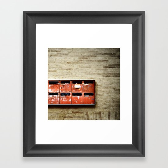 little boxes Framed Art Print
