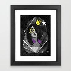 Diamond girl Framed Art Print