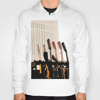 cleveland Hoodies featuring Guitars Cleveland DownTown by Dawn Marie