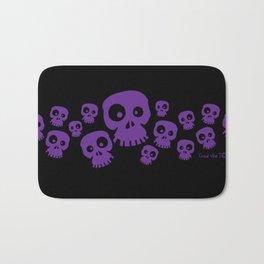 Skulls Fun - purple/black Bath Mat