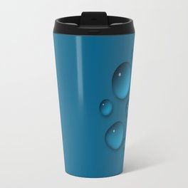 Water drops on a blue background Travel Mug