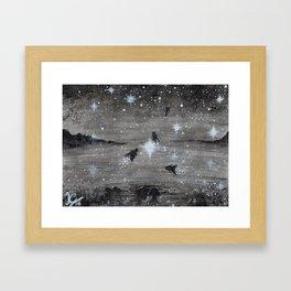 Cosmic Fish Framed Art Print
