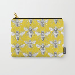 British Bees - Mustard Carry-All Pouch