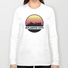 Atlantic City Skyline Long Sleeve T-shirt