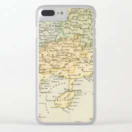 Vintage Map of The South Of China Clear iPhone Case