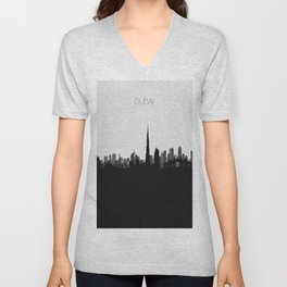 City Skylines: Dubai Unisex V-Neck