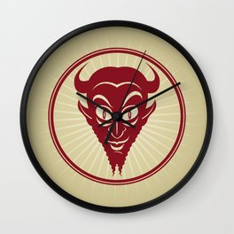 The Devil Face Wall Clock