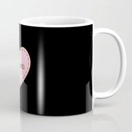 I Love Elephants Simple Heart Design Coffee Mug