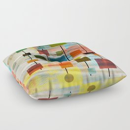Mid-Century Modern Art 1.3 -  Graffiti Style Floor Pillow