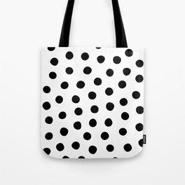 Big Fat Black White Spots Tote Bag