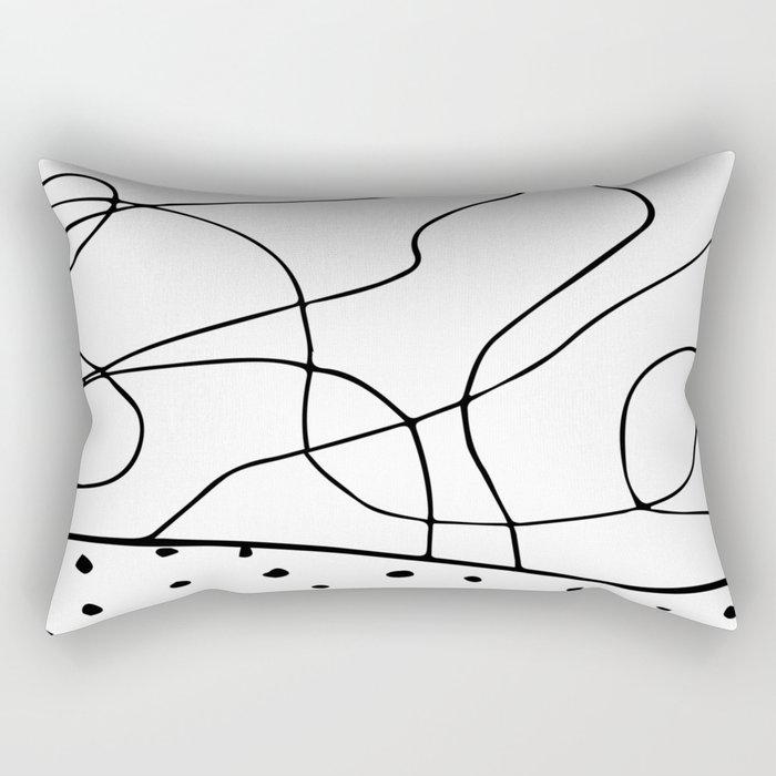 lines & dots Rectangular Pillow