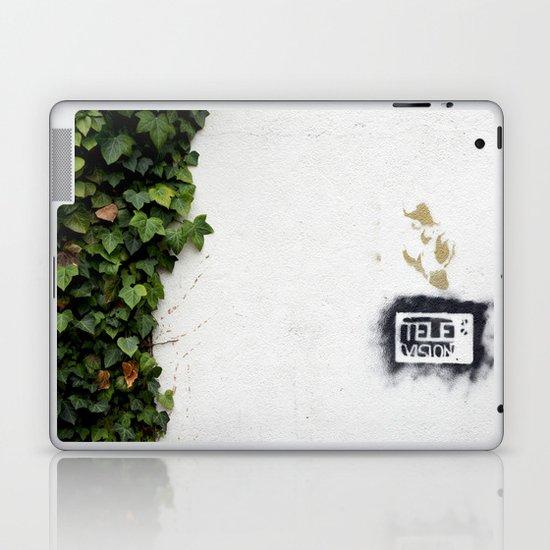 Television versus nature Laptop & iPad Skin